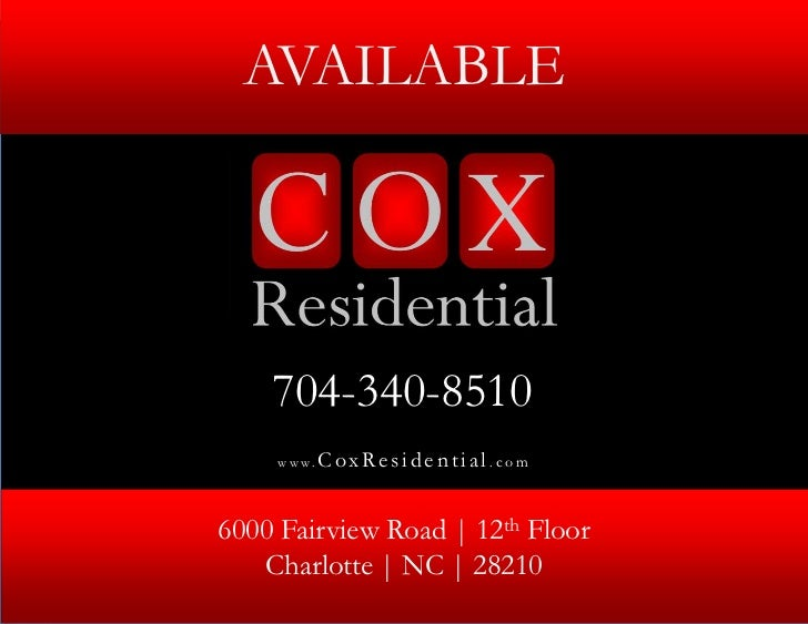 AVAILABLE                                     © 2012 Cox Residential, LLC. All Rights Reserved.                           ...