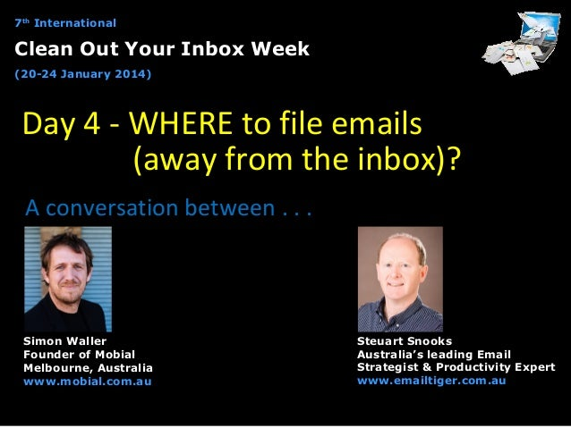 Clean Out Your Inbox Week - Day 4 interview with Simon Waller