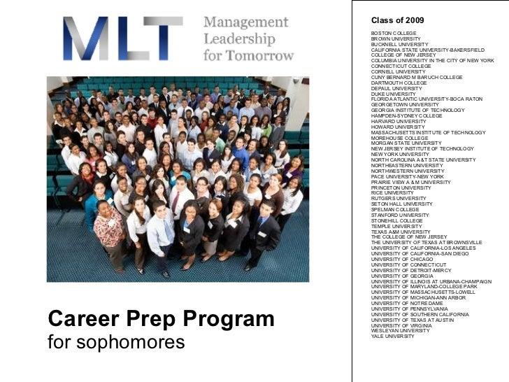 Career Prep Program for sophomores Class of 2009  BOSTON COLLEGE  BROWN UNIVERSITY  BUCKNELL UNIVERSITY  CALIFORNIA STATE ...