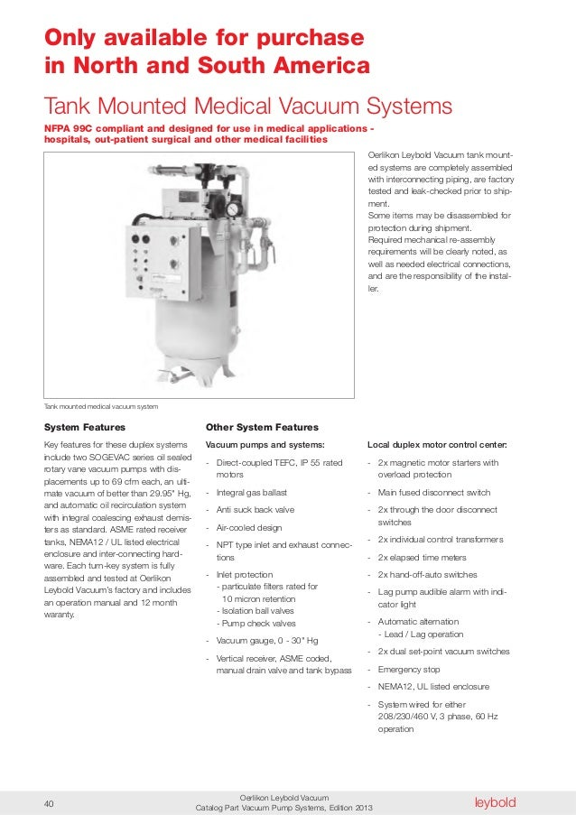 Medical Vacuum Pump System cp 050 en Vacuum Pump Systems