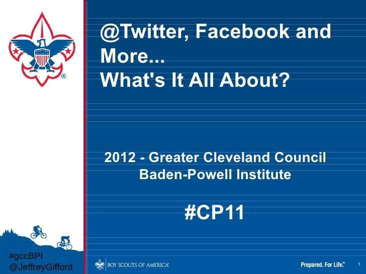 CP11   @twitter, facebook, and more...what's it all about?