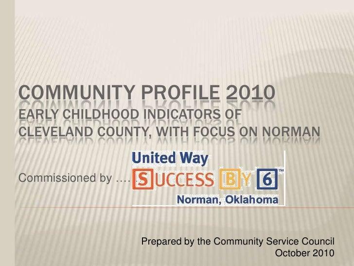 Cleveland Co. Community Profile 2010