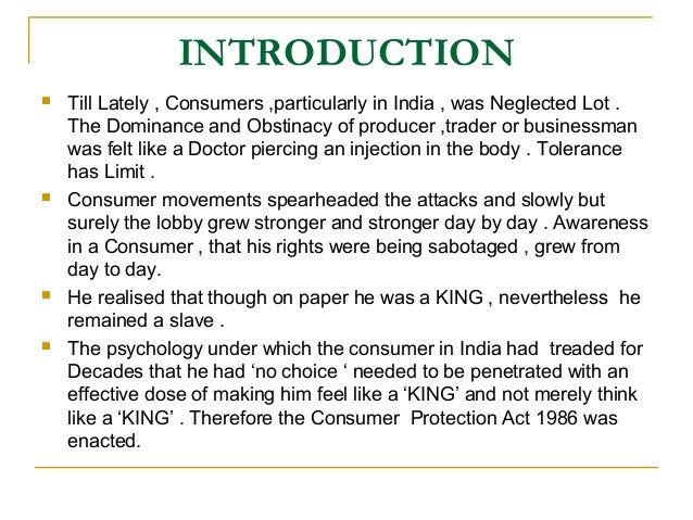 consumer rights protection essay Selected consumer rights know their consumer rights unfortunately consumer protection law is so vast and of this essay and no longer wish to.