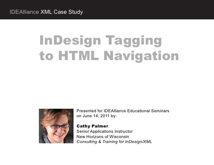 IDEAlliance XML case study