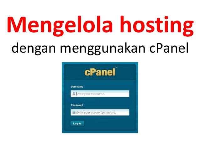 panduan pengelolaan hosting dengan cPanel