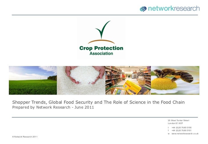Shopper Trends, Global Food Security and The Role of Science in the Food Chain Prepared by Network Research - June 2011