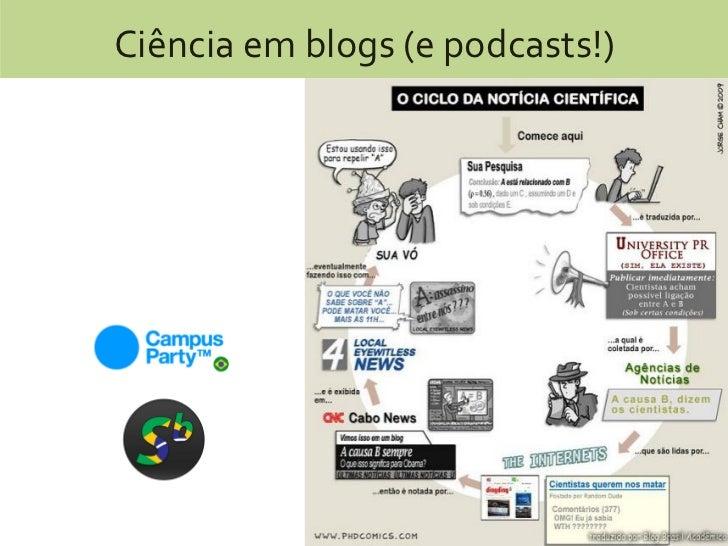 Ciência em blogs (e podcasts!)