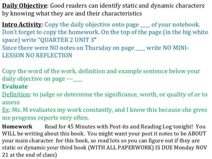 Intro Activity :  Copy the daily objective onto page ____ of your notebook.  Don't forget to copy the homework. On the top...