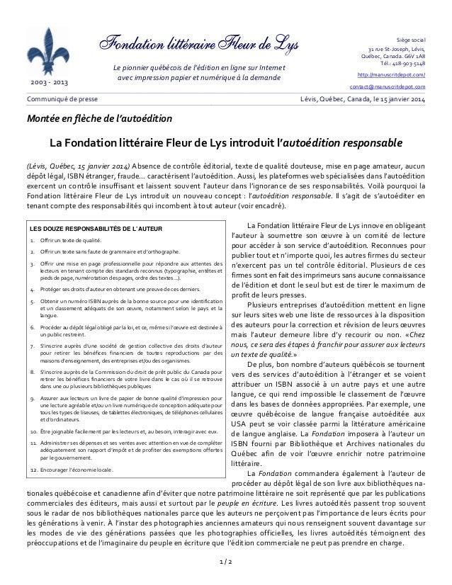 2003‐2013  Lepionnierquébécoisdel'éditionenlignesurInternet avecimpressionpapieretnumériqueàla...
