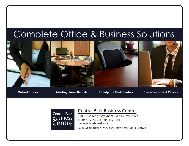 Central Park Business Centre Sales Presentation