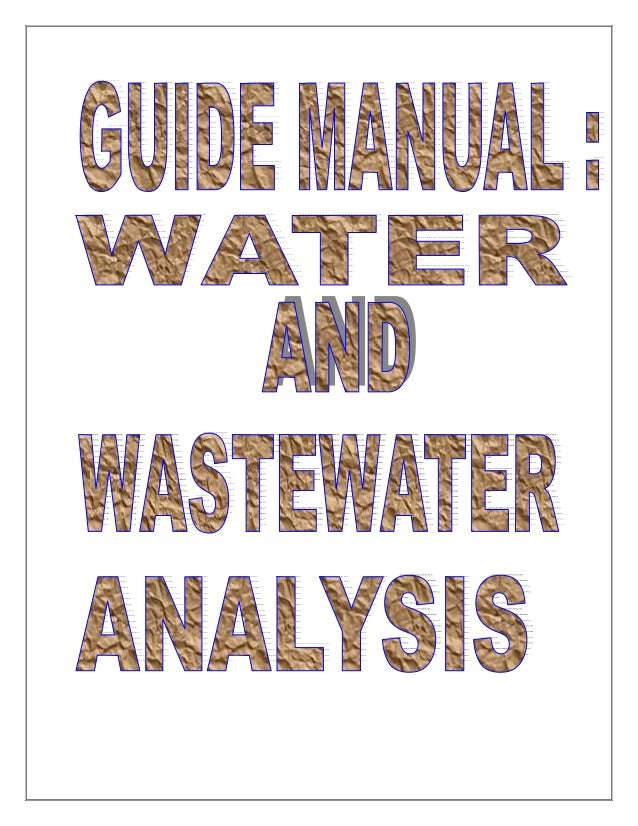 Cpcb water analysis manual