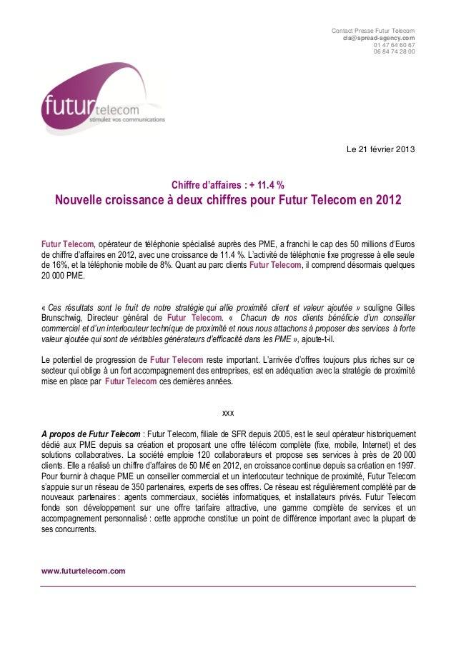 Contact Presse Futur Telecom                                                                                           cla...