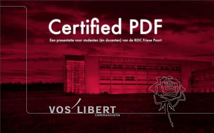 Certified PDF: uitleg en hoe te maken