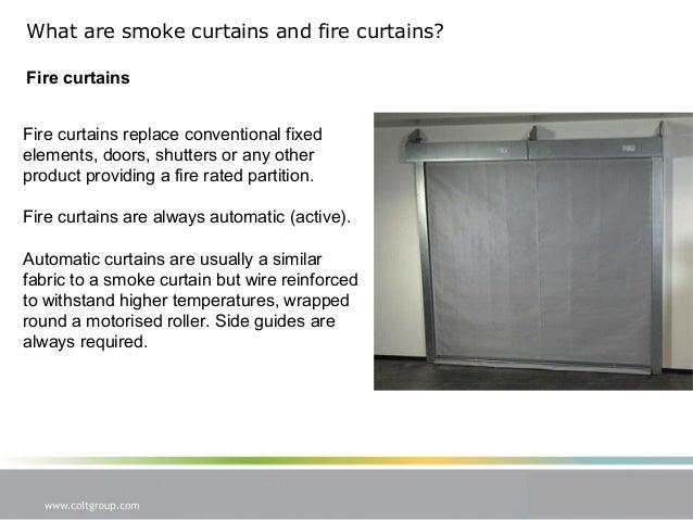 Cpd Presentation Smoke Curtains And Fire Curtains