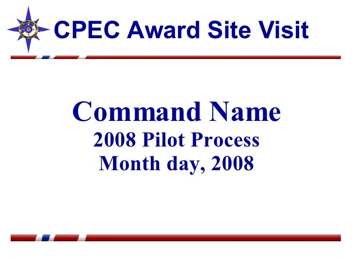 Cpec Award Outbrief Sample