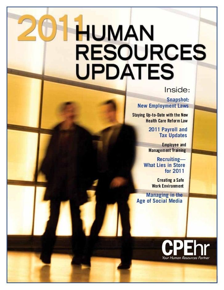 2011 Human Resources Updates