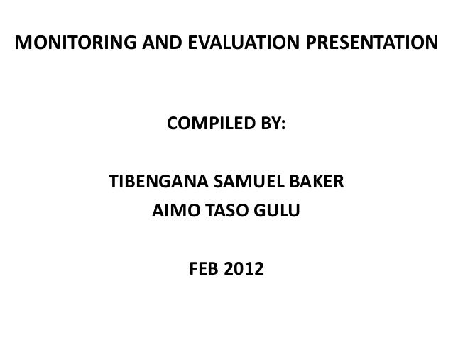 importance of monitoring and evaluation pdf