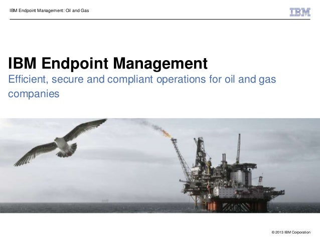 © 2013 IBM CorporationIBM Endpoint Management: Oil and GasIBM Endpoint ManagementEfficient, secure and compliant operation...