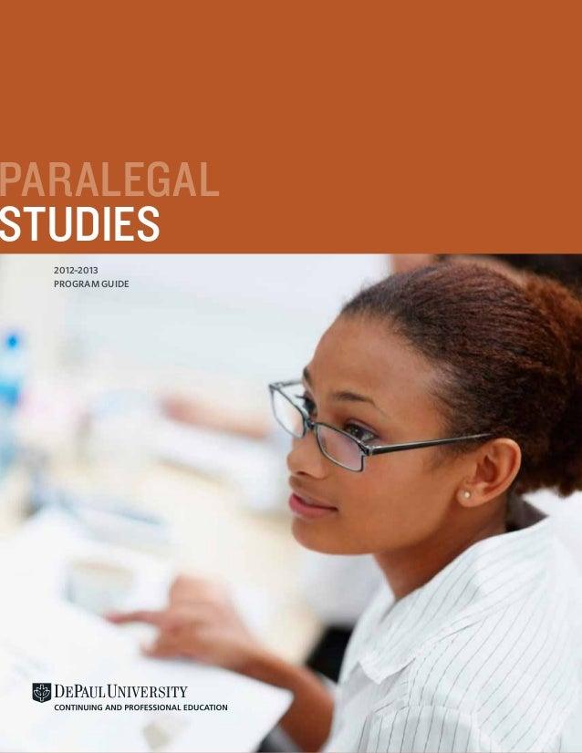 PARALEGALSTUDIES  2012–2013  PROGRAM GUIDE