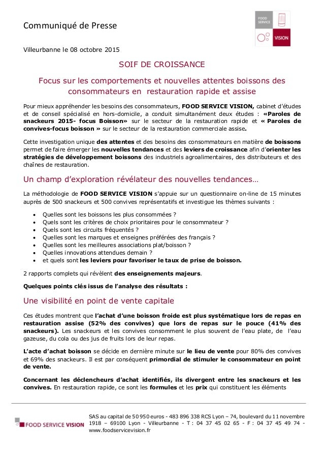 Communiqué de Presse SAS au capital de 50 950 euros - 483 896 338 RCS Lyon – 74, boulevard du 11 novembre 1918 – 69100 Lyo...