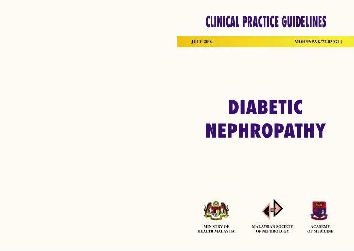 Cpg diabetic nephropathy