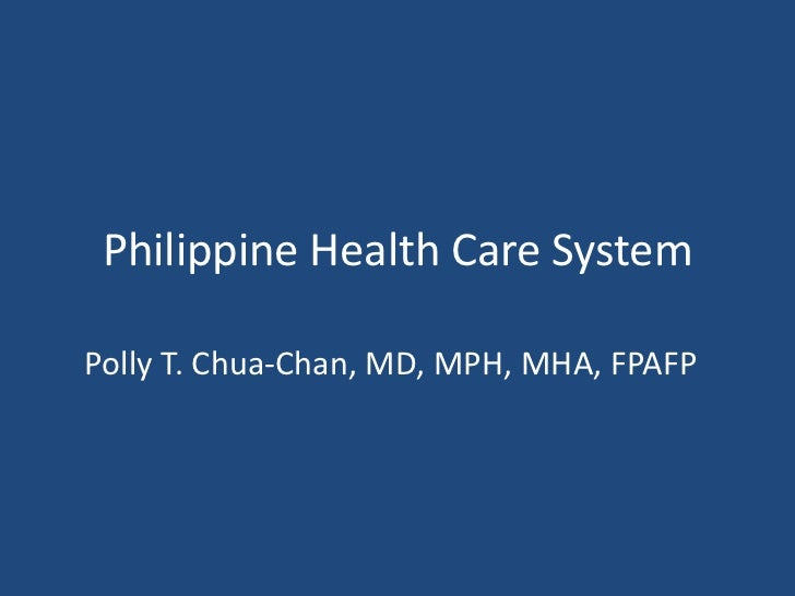 Cph  philippine health care system, new