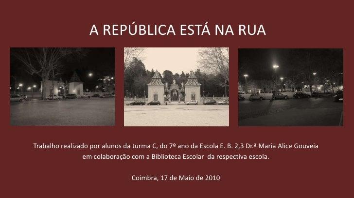 A República está na rua