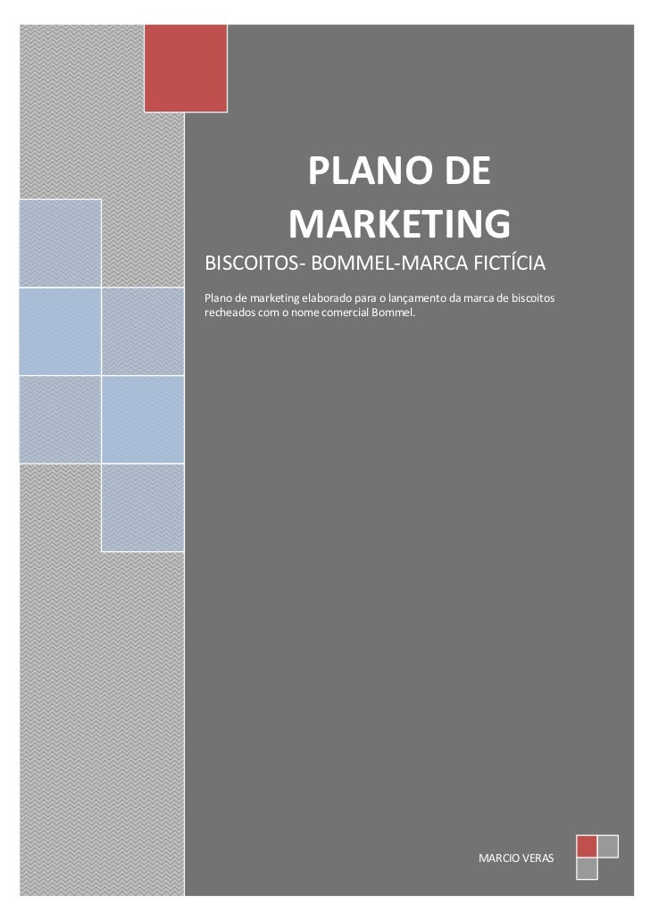 plano de marketing biscoitos bommel(marca fictícia)