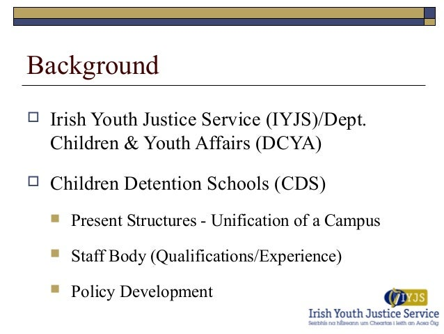 Youth Conference Background Background  Irish Youth