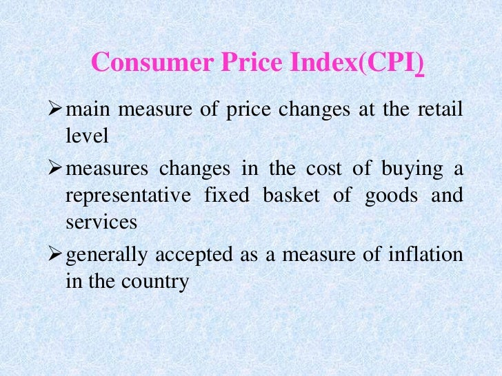 inaccuracies of the consumer price index cpi Cfa level 1 - the consumer price index inflation inflation is defined as an increase in the overall price level.