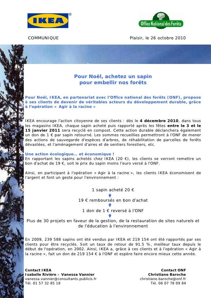 COMMUNIQUE                                           Plaisir, le 26 octobre 2010                          Pour Noël, achet...