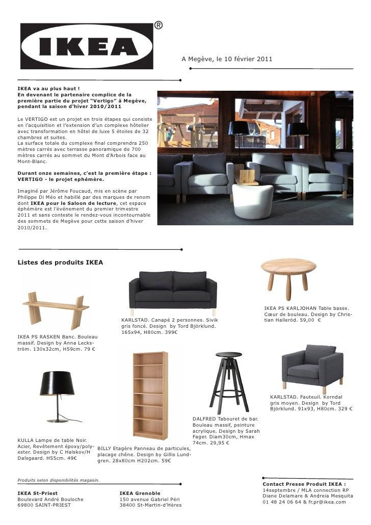 """IKEA partenaire de la première partie du projet """"Vertigo"""" à Megève, hiver 2010/2011"""