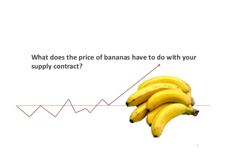 What does the price of bananas have to do with yoursupply contract?                                                  1