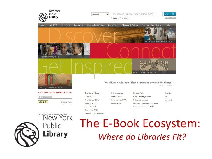 The E-Book Ecosystem:   Where do Libraries Fit?