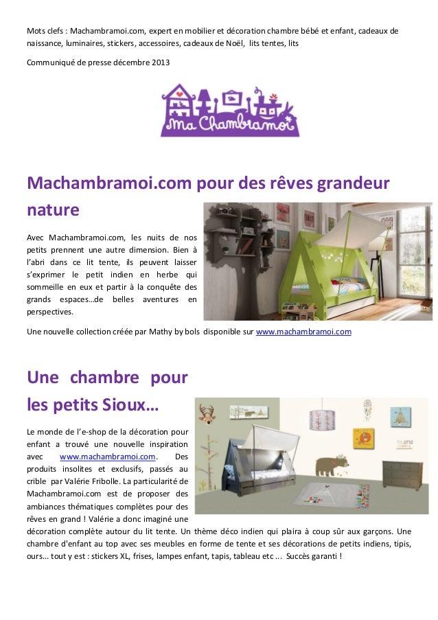 Mots clefs : Machambramoi.com, expert en mobilier et décoration chambre bébé et enfant, cadeaux de naissance, luminaires, ...