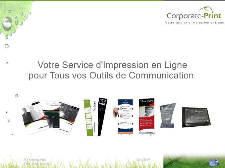 Votre Service d'Impression en Ligne pour Tous vos Outils de Communication