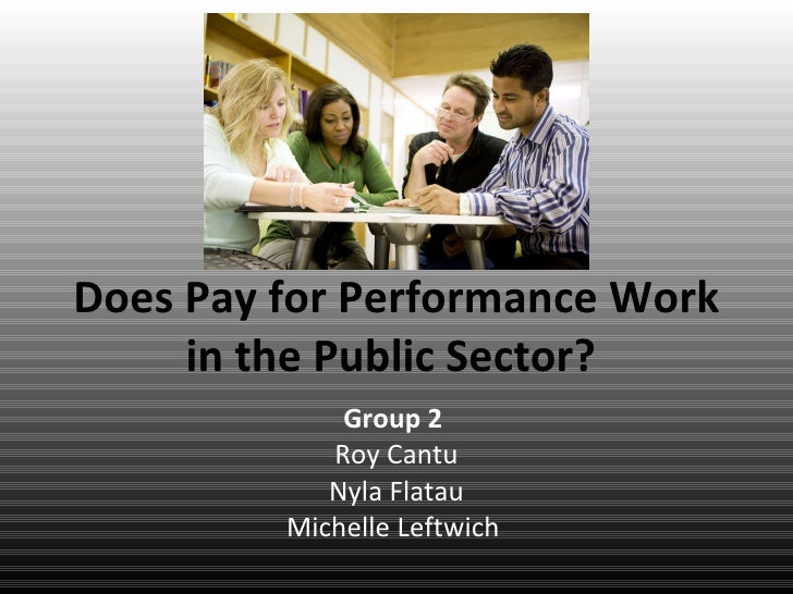 Pay for performance research paper