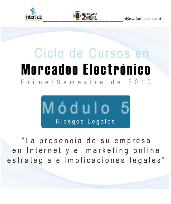 Riesgos legales,marketing online,