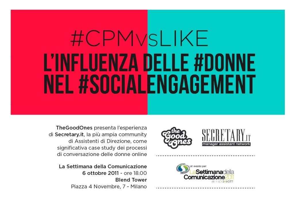 CPMvsLIKE L'influenza delle donne nel social engagement