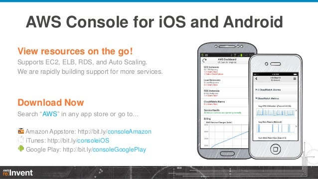 AWS Console for iOS and Android View resources on the go! Supports EC2, ELB, RDS, and Auto Scaling. We are rapidly buildin...