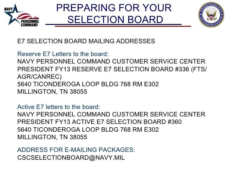 Cpo Selection Board Brief 2012 Fy2013
