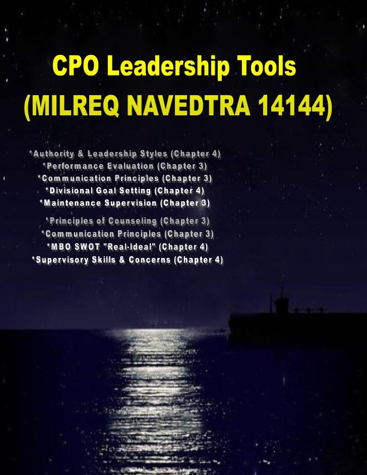 Chiefs-in-Training (CiT) Leadership Tools (NAVEDTRA 14144)