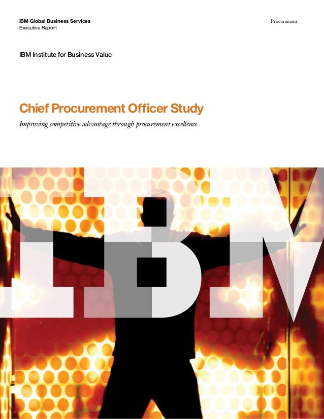 Chief Procurement Officer Study May 2013