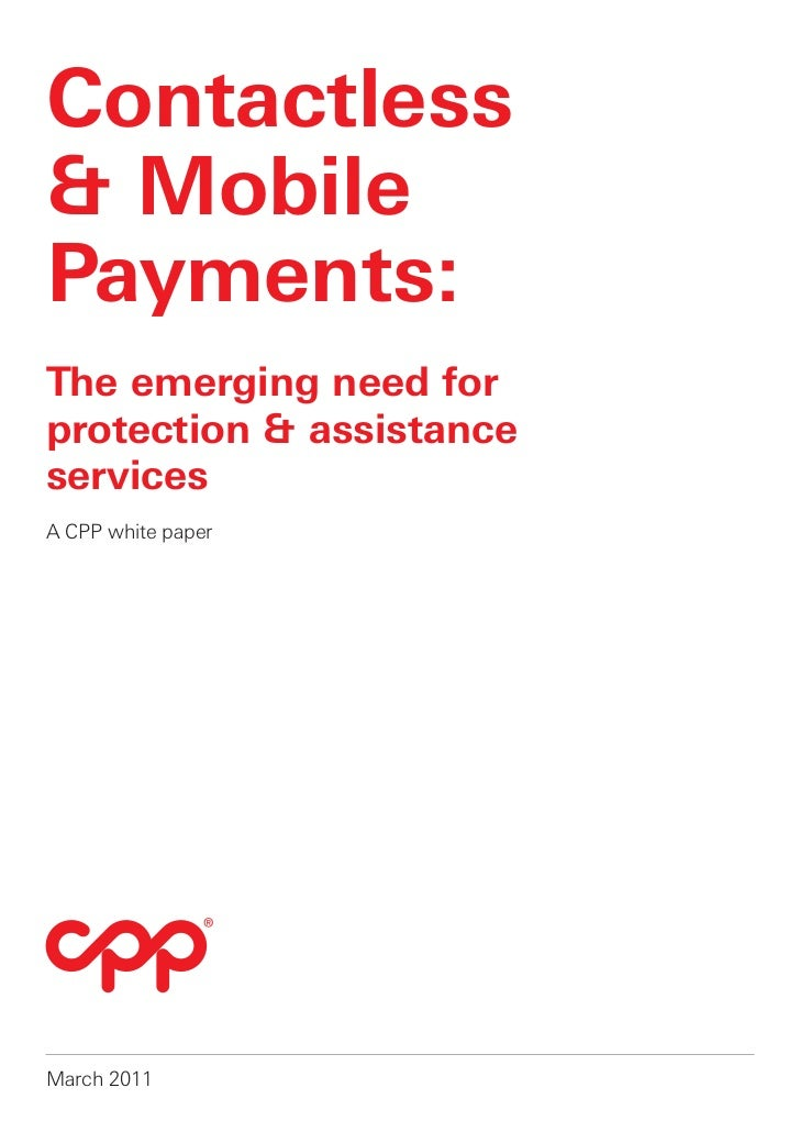 CPP contactless and mobile payments white paper 2011
