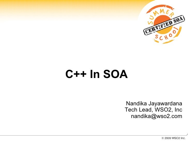 Cpp In Soa