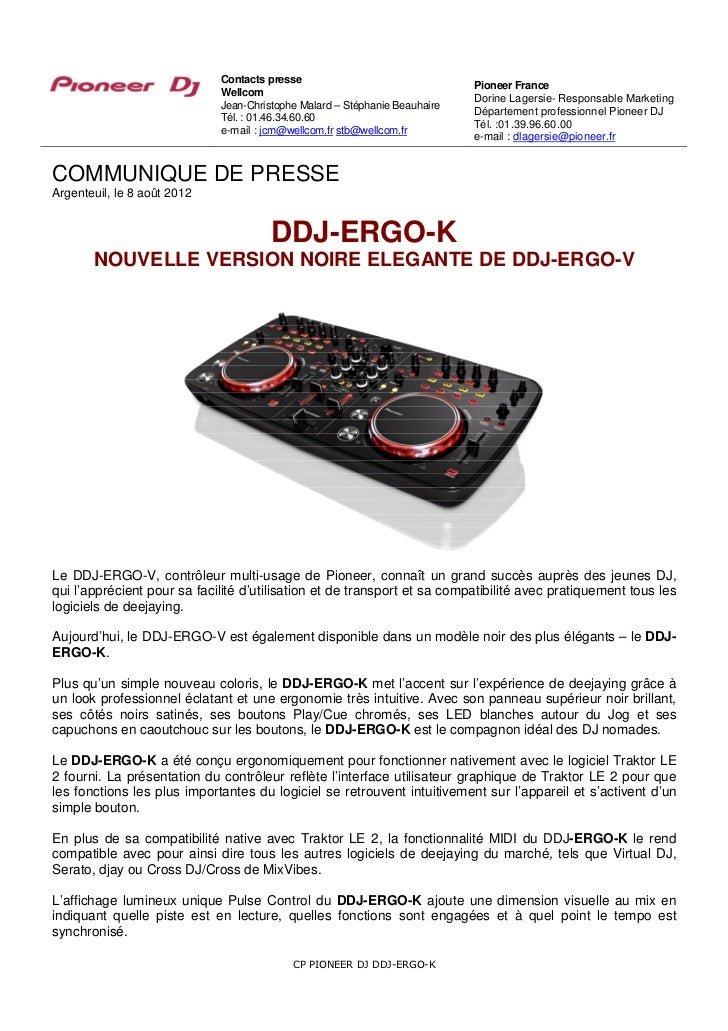 Contacts presse                                                                            Pioneer France                 ...