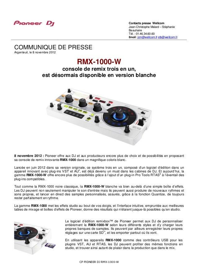 RMX-1000-W : Console de remix version blanche