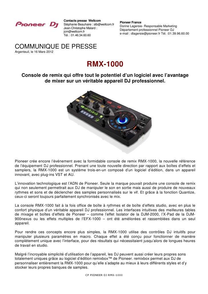 RMX-1000 : console de remix pour DJ