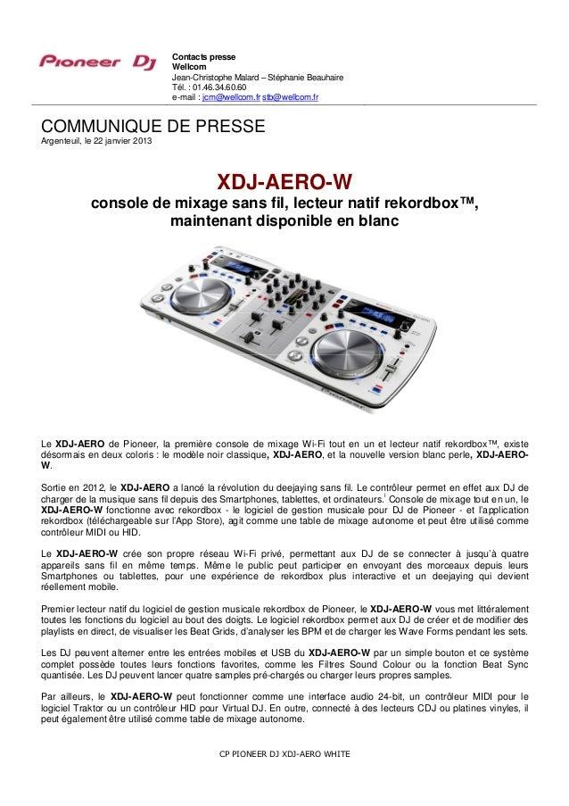 Contrôleur XDJ-AERO-W