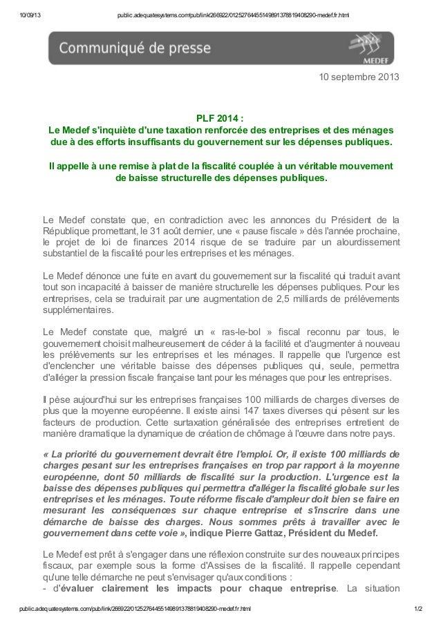 10/09/13 public.adequatesystems.com/pub/link/266922/01252764455149891378819408290-medef.fr.html public.adequatesystems.com...